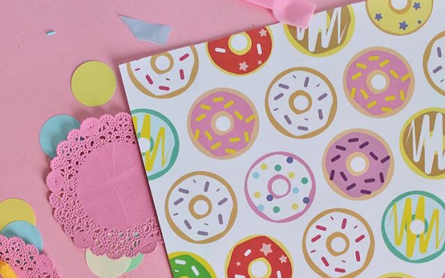 Kit carta da regalo con ciambelle