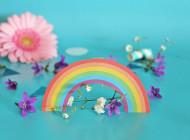 KIT cake topper arcobaleno per torta