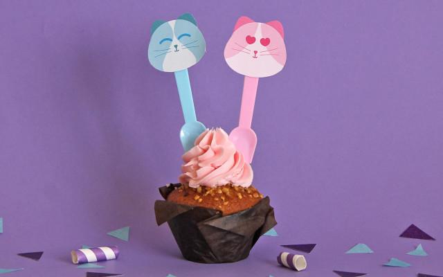 Kit bandierine gattini per dolci