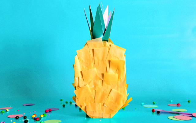 KIT template ananas piñata