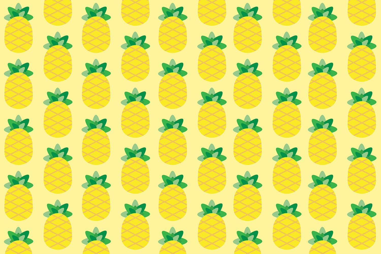 kit carta da regalo pattern ananas super colors
