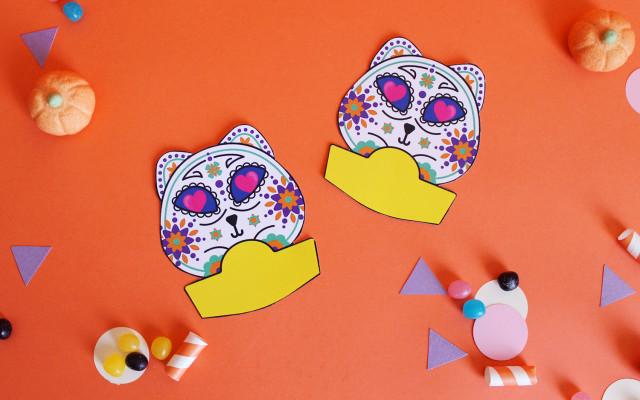 festa-di-halloween-segnaposto-gatto-teschio-messicano-2