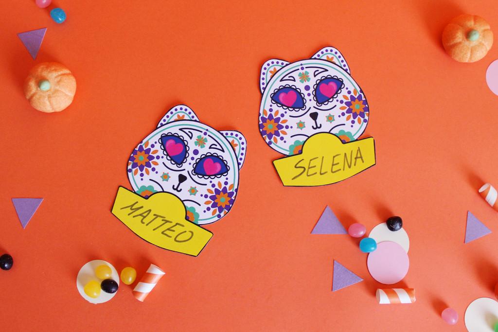 festa-di-halloween-segnaposto-gatto-teschio-messicano-3