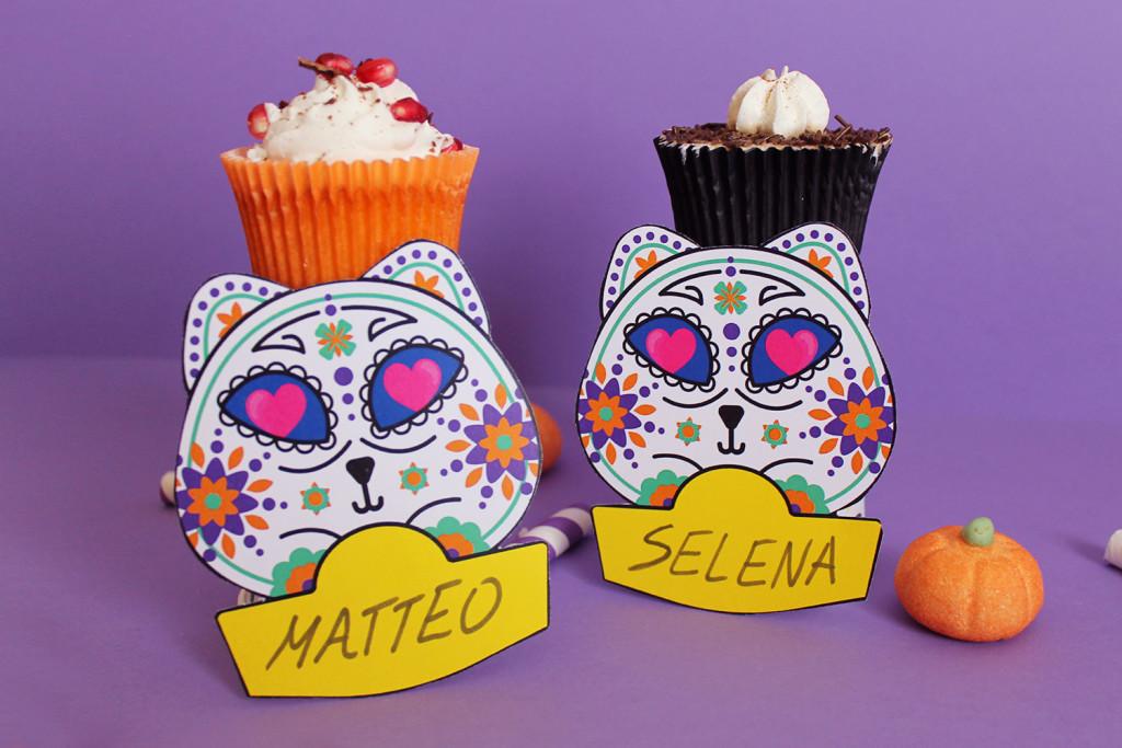 festa-di-halloween-segnaposto-gatto-teschio-messicano-5