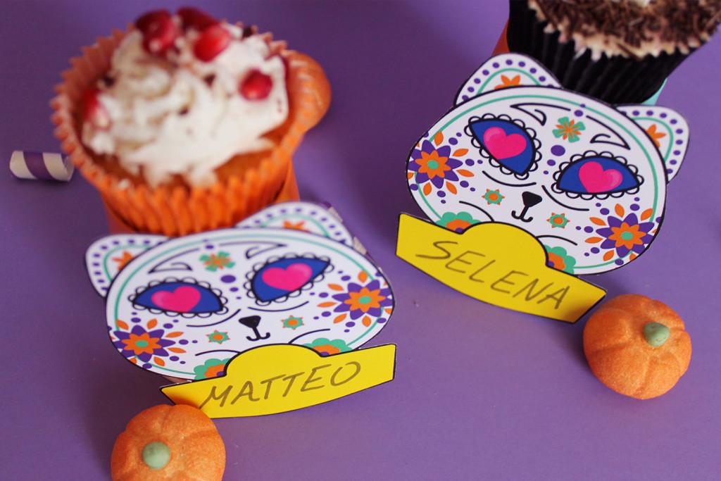 festa-di-halloween-segnaposto-gatto-teschio-messicano-6