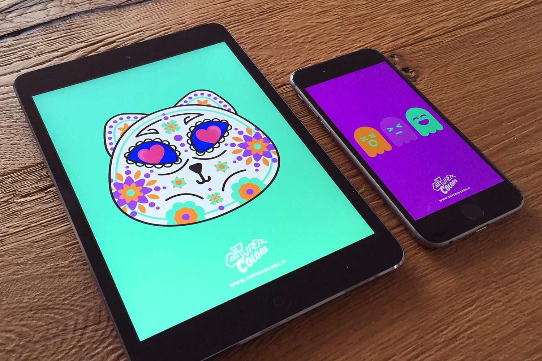 sfondi-halloween-gratis-supercolors-fantasmini-gatti-galaxy-iphone-ipad-1