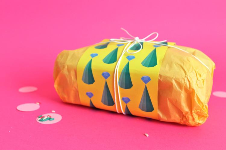 KIT carta da regalo alberi di Natale e diamanti