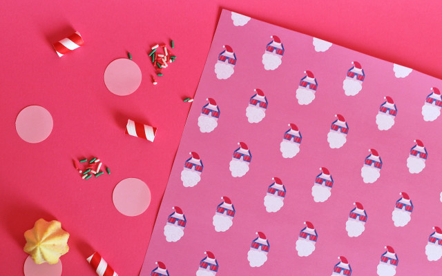 KIT carta da regalo babbo Natale