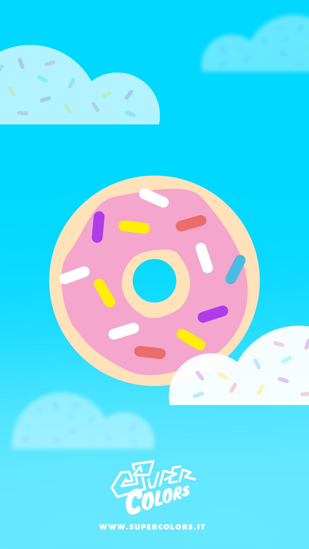 Bien-aimé Sfondi per telefono con ciambelle - Super Colors HV94
