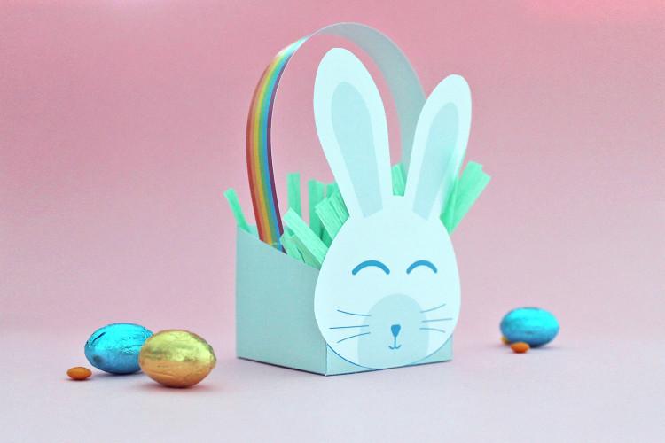 Cestino di Pasqua coniglietto fai da te