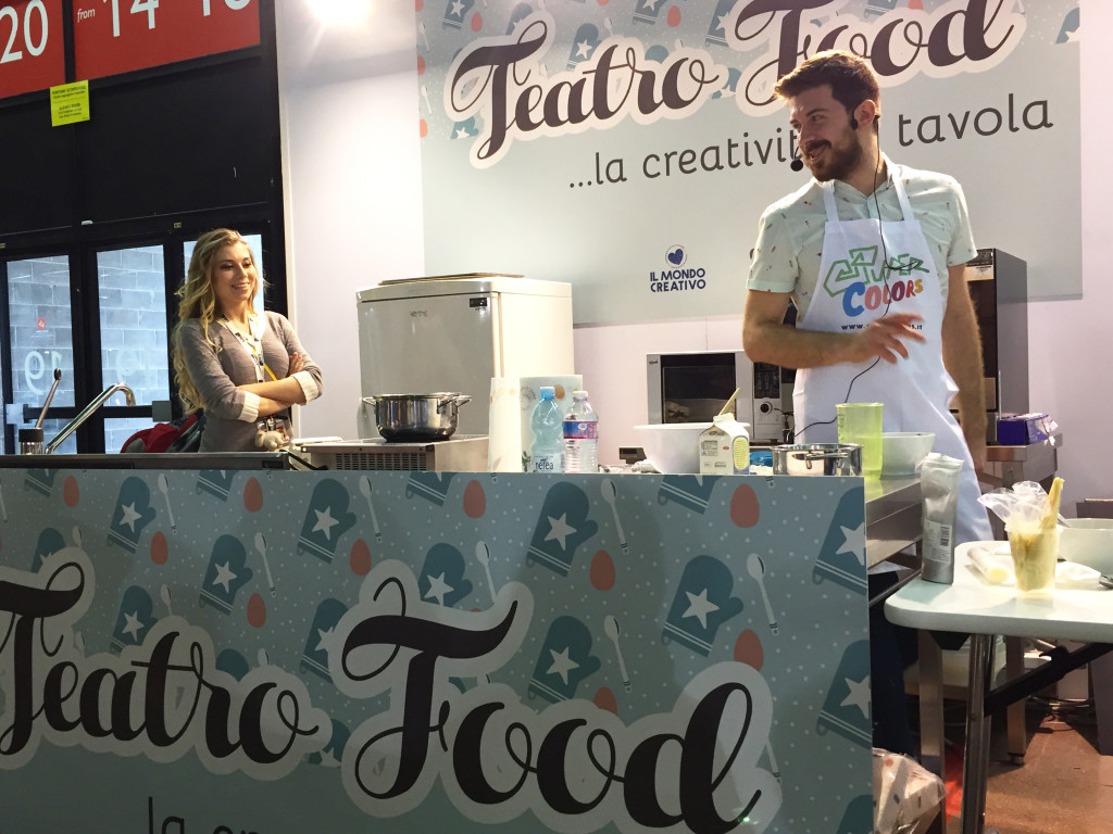 il palco del teatro food di Il Mondo Creativo - Craft Your Party
