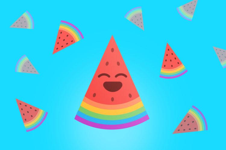 Cover angurie arcobaleno per Facebook e Twitter