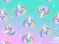 Cover zucca unicorno arcobaleno per Facebook e Twitter