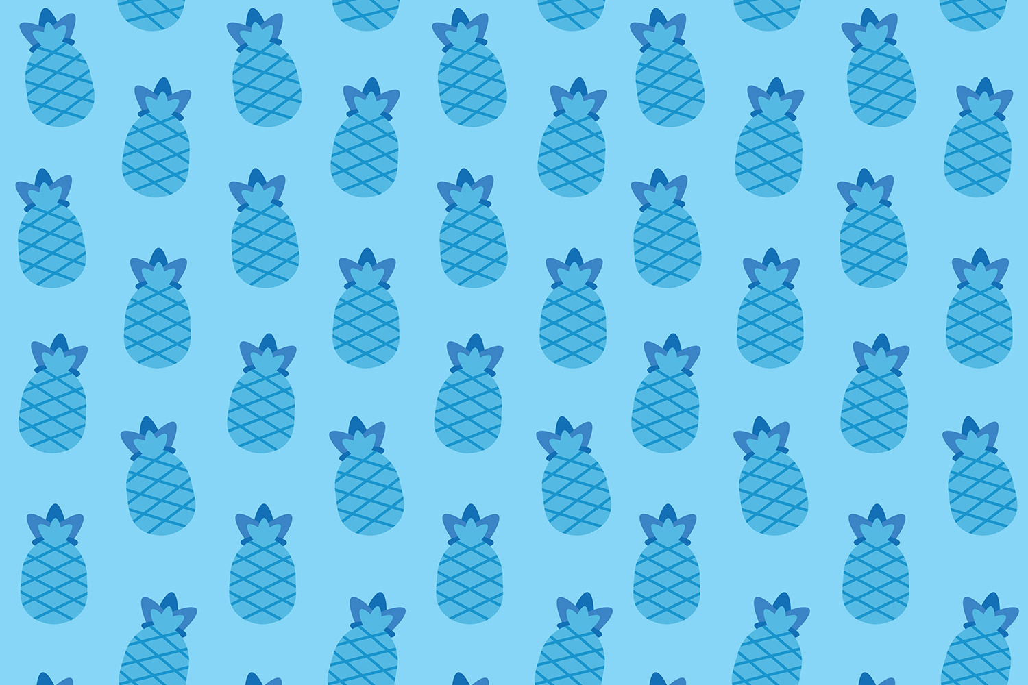 carta-da-regalo-pattern-ananas-azzurra-pineapple-supercolors