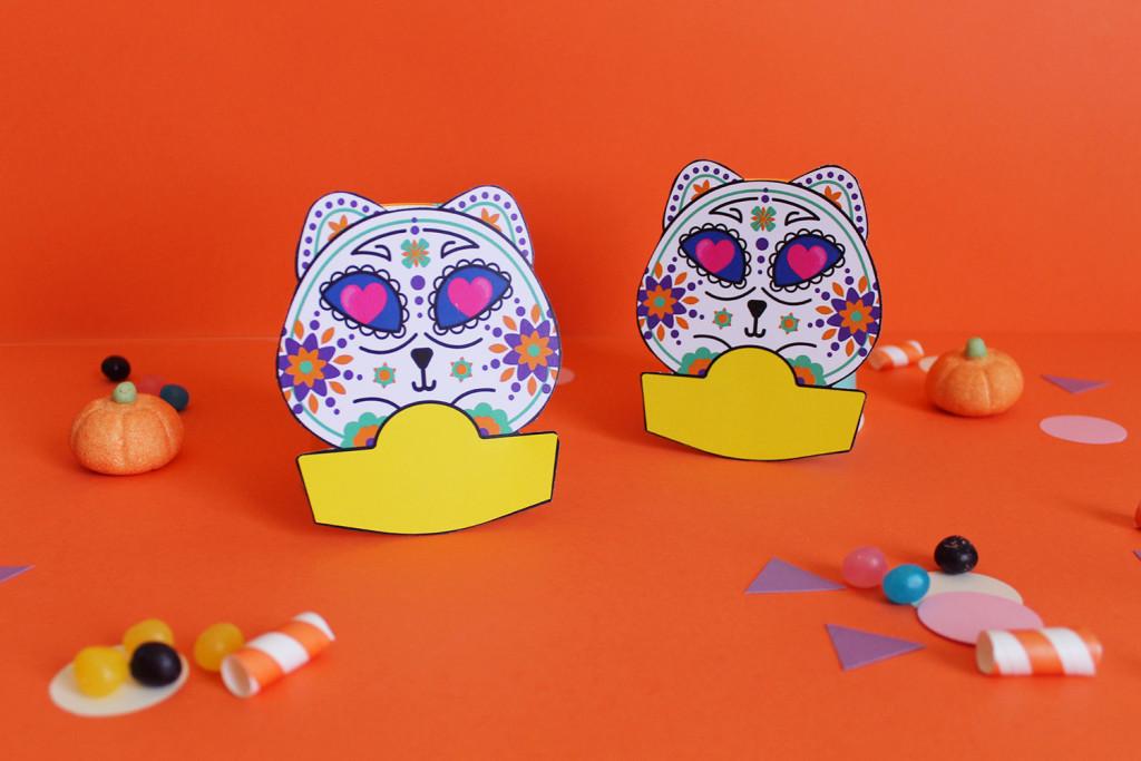 festa-di-halloween-segnaposto-gatto-teschio-messicano-1