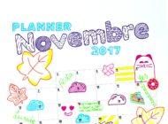 Calendario novembre 2017 da stampare versione COLORING!